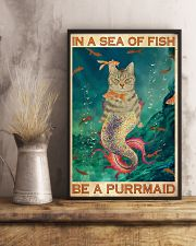 Be A Purrmaid 24x36 Poster lifestyle-poster-3