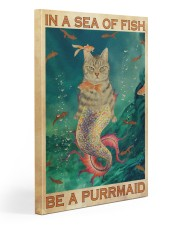 Be A Purrmaid 20x30 Gallery Wrapped Canvas Prints thumbnail
