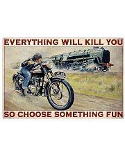 Motorbike And Train Racing Choose Something Fun 36x24 Poster front