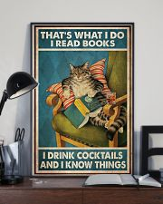 Cat Read Books Drink Cocktail 24x36 Poster lifestyle-poster-2