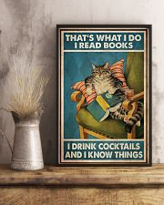 Cat Read Books Drink Cocktail 24x36 Poster lifestyle-poster-3