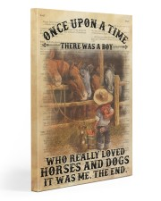 Boy Horses Dogs OUAT Dictionary Gallery Wrapped Canvas Prints tile