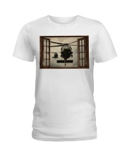 Helicopter Window Ladies T-Shirt tile