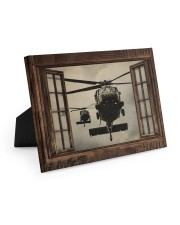 Helicopter Window Easel-Back Gallery Wrapped Canvas tile