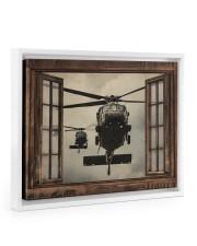 Helicopter Window Floating Framed Canvas Prints White tile