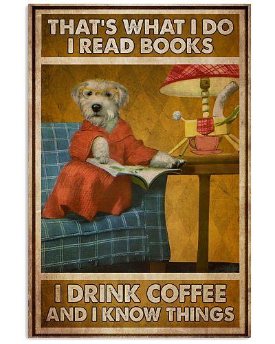 Doggo Read Books Drink Coffee