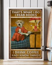 Doggo Read Books Drink Coffee  24x36 Poster lifestyle-poster-4