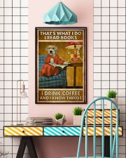 Doggo Read Books Drink Coffee  24x36 Poster lifestyle-poster-6