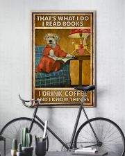 Doggo Read Books Drink Coffee  24x36 Poster lifestyle-poster-7