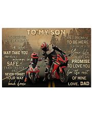 Motorcycle Racing To My Son 36x24 Poster front