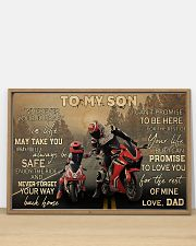 Motorcycle Racing To My Son 36x24 Poster poster-landscape-36x24-lifestyle-03