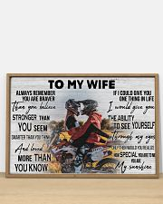 Motocross Couple To My Wife 36x24 Poster poster-landscape-36x24-lifestyle-03