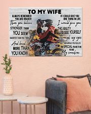 Motocross Couple To My Wife 36x24 Poster poster-landscape-36x24-lifestyle-18