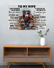 Motocross Couple To My Wife 36x24 Poster poster-landscape-36x24-lifestyle-21