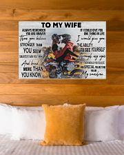 Motocross Couple To My Wife 36x24 Poster poster-landscape-36x24-lifestyle-23