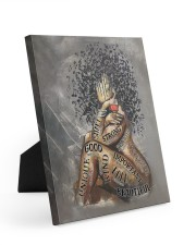 African American Woman Music Poster - Dprintes Easel-Back Gallery Wrapped Canvas tile