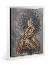 African American Woman Music Poster - Dprintes Floating Framed Canvas Prints White tile