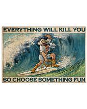 Cowboy Surfing Choose Something Fun 36x24 Poster front