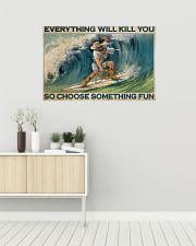 Cowboy Surfing Choose Something Fun 36x24 Poster poster-landscape-36x24-lifestyle-01