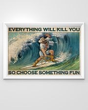 Cowboy Surfing Choose Something Fun 36x24 Poster poster-landscape-36x24-lifestyle-02