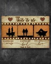 Fishing Couple Film Strip 36x24 Poster aos-poster-landscape-36x24-lifestyle-11