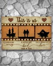 Fishing Couple Film Strip 36x24 Poster aos-poster-landscape-36x24-lifestyle-12