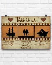 Fishing Couple Film Strip 36x24 Poster aos-poster-landscape-36x24-lifestyle-16