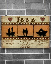 Fishing Couple Film Strip 36x24 Poster aos-poster-landscape-36x24-lifestyle-17
