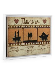 Fishing Couple Film Strip Floating Framed Canvas Prints White tile