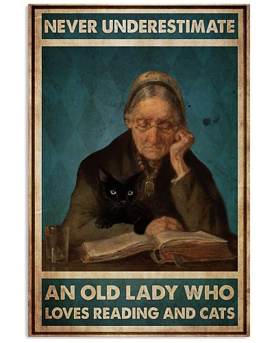 Old Lady Loves Reading And Cats