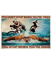 Triathlon You Stop When You're Done 36x24 Poster front