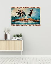 Triathlon You Stop When You're Done 36x24 Poster poster-landscape-36x24-lifestyle-01