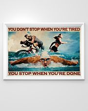 Triathlon You Stop When You're Done 36x24 Poster poster-landscape-36x24-lifestyle-02