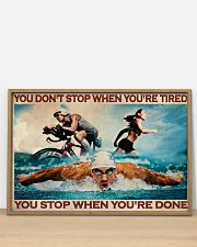 Triathlon You Stop When You're Done 36x24 Poster poster-landscape-36x24-lifestyle-03