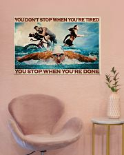 Triathlon You Stop When You're Done 36x24 Poster poster-landscape-36x24-lifestyle-19