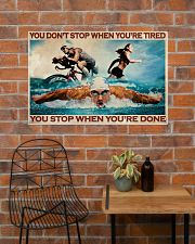 Triathlon You Stop When You're Done 36x24 Poster poster-landscape-36x24-lifestyle-20