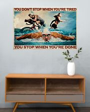 Triathlon You Stop When You're Done 36x24 Poster poster-landscape-36x24-lifestyle-21
