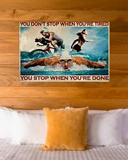 Triathlon You Stop When You're Done 36x24 Poster poster-landscape-36x24-lifestyle-23