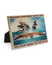 Triathlon You Stop When You're Done Easel-Back Gallery Wrapped Canvas tile