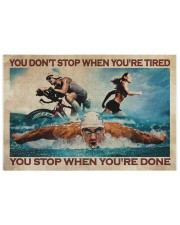 Triathlon You Stop When You're Done Puzzles tile