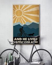 Mountain Biking And He Lived Happily Ever After 24x36 Poster lifestyle-poster-7