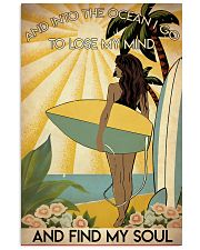 Girl Surfing Ocean Is Calling 24x36 Poster front