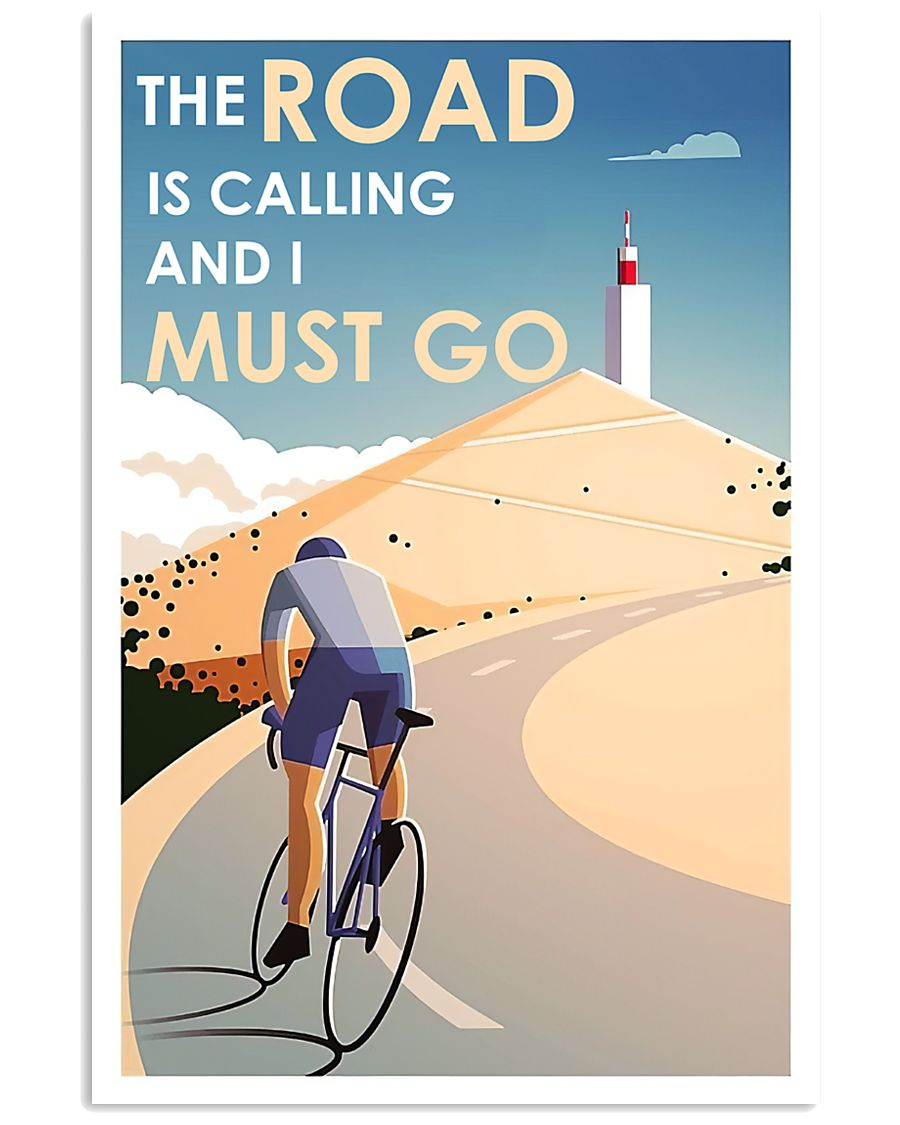 Cycling The Road Is Calling 24x36 Poster