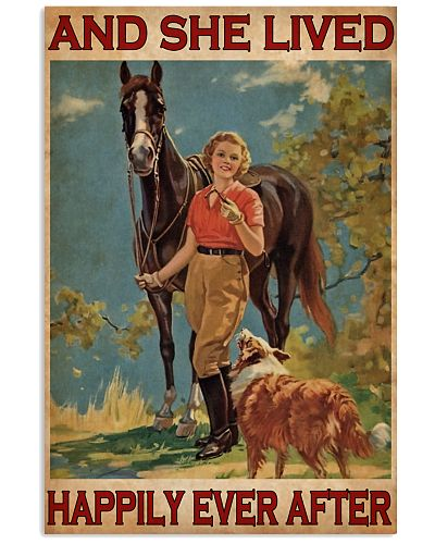 Horse And Girl Live Happily