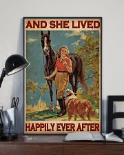Horse And Girl Live Happily 24x36 Poster lifestyle-poster-2