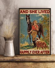 Horse And Girl Live Happily 24x36 Poster lifestyle-poster-3