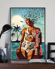Girl Music And Beach I Am 24x36 Poster lifestyle-poster-2