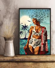 Girl Music And Beach I Am 24x36 Poster lifestyle-poster-3