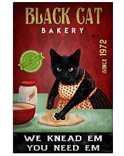 Black Cat Bakery We Knead Them 24x36 Poster front