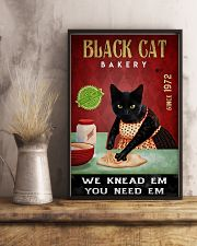 Black Cat Bakery We Knead Them 24x36 Poster lifestyle-poster-3